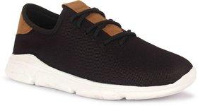 KAINS COLLECTION Men's Black Mesh Sports Shoes