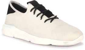 KAINS COLLECTION Men's White Mesh Sports Shoes