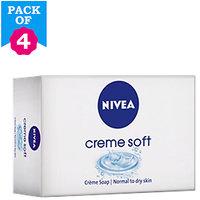 Nivea Creme Soft Set of 4 Soaps  4*125gm