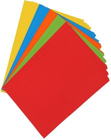 50 pcs A4 Bright Neon Shade,160 gsm Hard A4 Both Side Colored Sheets Paper