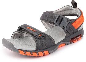 Sparx Men's D.Grey N.Orange Floater Sandals