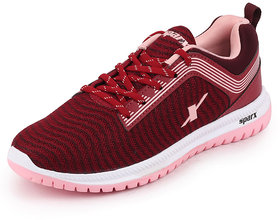 Sparx Womens Burgandy B.pink Sports Running Shoes Sl 164