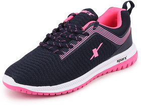 Sparx Womens Navy Blue Pink Sports Running Shoes Sl 164