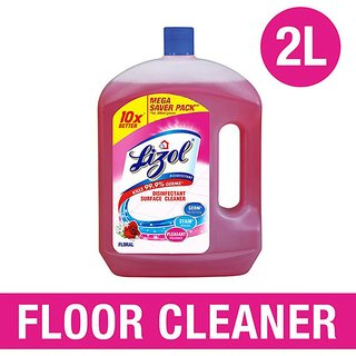 Lizol Disinfectant Floor Cleaner (Floral), 2 L (Pack of 2)
