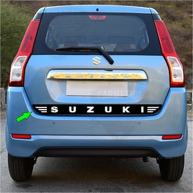 CarMetics WAGONR dickey sticker (wagonr accessories decals stickers logo stickers ) for Wagonr SUZUKI WHT