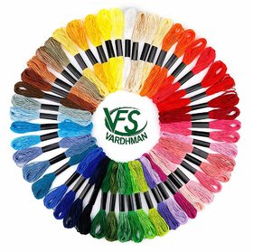 Cross Stich/Long Stich Embroidery Threads, Multicolored Set of 100, 8 Mt Each Skeins