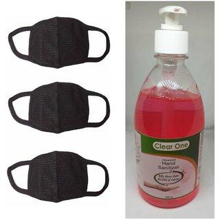 Black Mask (3) & Clear one ( 500 ml)