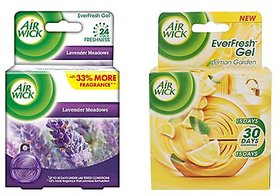AirWick Combo Of 2 Everfresh Gel, Lemon Garden & Meadows, 50 G Each