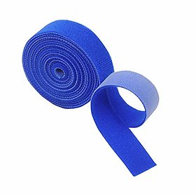 Self Gripping Double Sided Hook and Loop Fastener,Wire  Cable Organiser, Reusable, 20 mm, Pack of 2 MTS Color Blue