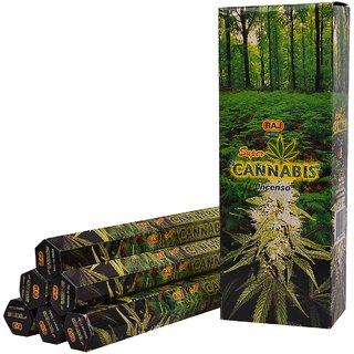 Cannabis Fragrance 6 pkt of 20 Sticks Each (Contains 120 Incense Sticks/Natural Agarbatti)