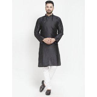 Benstoke mens black designer kurta with pajama
