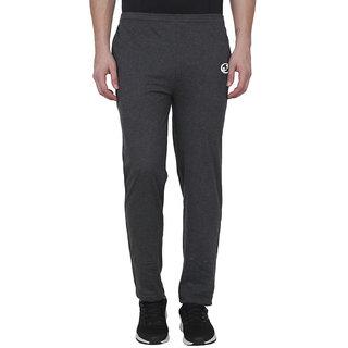 SHELLOCKS Cotton Black Melange Track Pants for Men