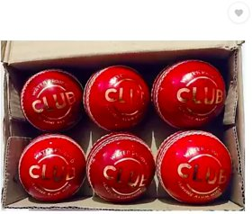 DG Sports Red Leather Cricket Ball(Pack of 6)