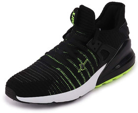 Sparx Men's Black/White Lace Up Running Shoes