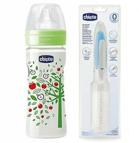 Chicco Feeding Bottles and Cleaning Brush Set