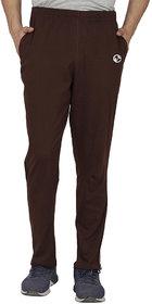 SHELLOCKS Cotton Hosiery Coffee Track Pants for Men