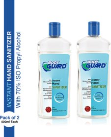 Aryanveda Bodyguard Hand Sanitizer 500 ML/Bottle ( Pack of 2 )
