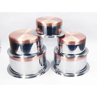 Bertol Kitchenware Stainless Steel Copper Bottom Tope Set