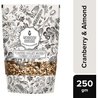 Monsoon Harvest Toasted Millet Muesli, Cranberry and Almond, 250g