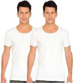 Dixcy Josh Men's Half Sleeve Cotton Vest (Pack of 2)
