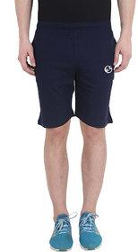 Shellocks Solid Cotton Hosiery Navy Blue Bermuda for Men
