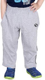Shellocks Solid Cotton Grey Melange Track Pants for Boys