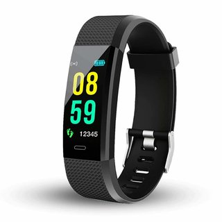 Smart Band Plus Bluetooth Smart Fitness Band Watch for Men/Women with Heart Rate ActivityTracker Waterproof Body  Steps