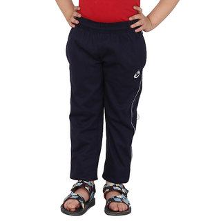 Shellocks Solid Cotton Hosiery Navy Blue Boys Track Pants