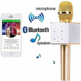 PASADDO Q7 Portable Wireless Karaoke Microphone Handheld Condenser Microphone with Speaker for iPhone/iPad/Multicolor