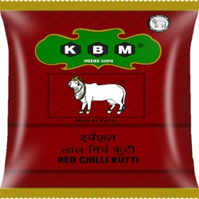 KBM Gai Chaap Red Chilli Kutti/Mirch Kutti - Spice Powder (Masala) (1 kg)