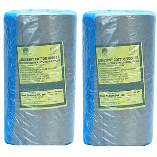 NUVO MEDSURG Cotton For Baby Care, Beauty Care and Multipurpose Uses 500  Gms Pack Of 2