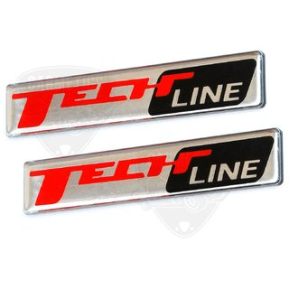 CarMetics TechLine 3d Chrome emblem for Kia Seltos ( Kia seltos accessories fender 3d emblems )  TechLine - Set of 2