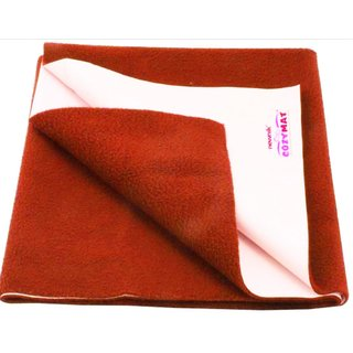 HomeStore-YEP Waterproof Baby Bed Protector Dry Sheet for New Born Babies, Size - Medium 100cm X 70cm Color Maroon