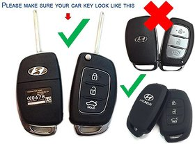 AutoBizarre Silicone Flip Key Cover for Hyundai i20 (igen) Verna/Xcent (Only for Flip Key)