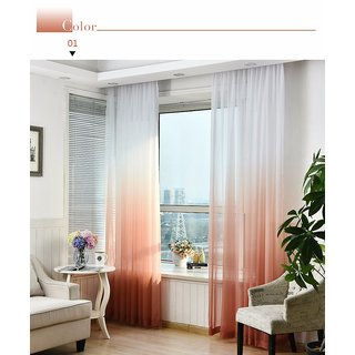 Style UR Home -Premium Shaded - Gradient - Polyester Sheer - 7 Ft x 4 Ft-Eyelet Curtain - 2 pcs