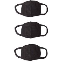 PROERA Black Mask Net Print Anti Pollution and Anti Dust Mask ( Pack of 3) Mask and Respirator