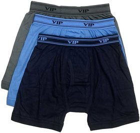 VIP Ultima Men's Cotton Trunk Pack of 3 (Non Returnable Item) (Colour may vary)