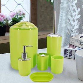 Sanitary Wares Window Bath Series Bathroom Accessories Set of 6 - Green