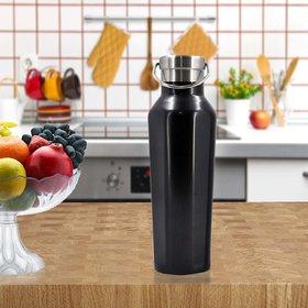 Stainlesss Steel Plain Design Vacuum Water Bottle - 500ml (106-B)