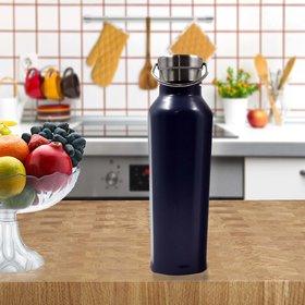 Stainlesss Steel Plain Design Vacuum Water Bottle - 500ml (106-C)