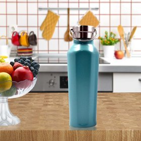 Stainlesss Steel Plain Design Vacuum Water Bottle - 500ml (106-D)