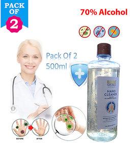 Sanitizer Gel Anti-Bacteria Moisturizing Liquid / 70 Alcohol Disinfection / Waterless Pack of 2 (500ml2)