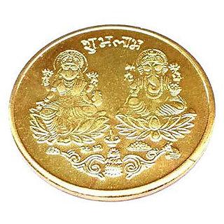 Dhanteras Diwali Gold Plated German Silver Coins laxmi Ganesh sikka for Gift