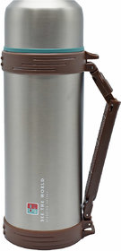 Penguin Stainless Steel Flask with Handle, 1800ml (QE-5017) - Brownish Silver