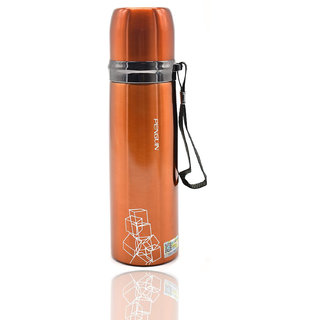 Penguin Stainless Steel Flask, 500ml (QE-370) - Metallic Orange