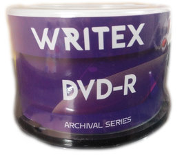 Writex DVD 4.7GB 50 DVD (Spindle Box)