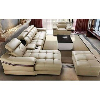 sofa set L shape cupholder