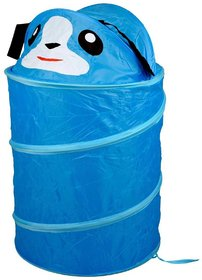 Round Foldable Water Resistant Laundry Basket With Cover