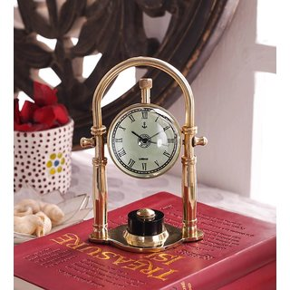 Marine Nautical Anchor Brass Table Clock Vintage Table Clock