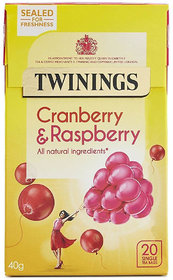 Twinings Cranberry & Rasberry, 20 Tea Bags - 40g (20x2g)